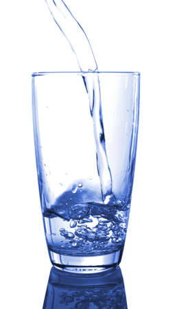 ice water pouring in transparent glass or cup Stock Photo - 5723085