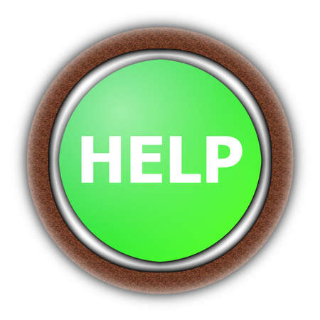 help button can be used for a internet website Stock Photo - 5737950