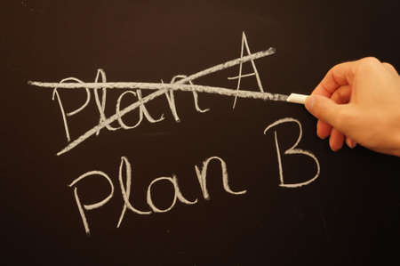 plans: choose an other plan for business success or growth                                     Stock Photo