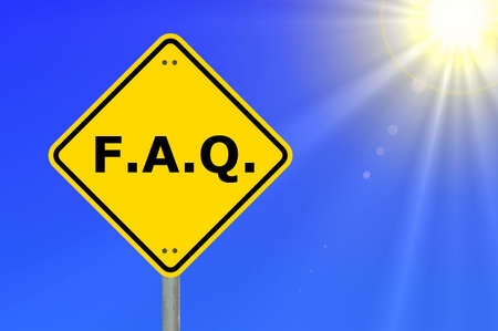frequent: faq or frequently asked question showing internet concept
