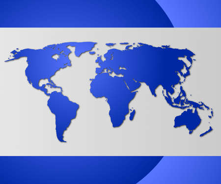 financial globe: world map or globe with copyspace for text message