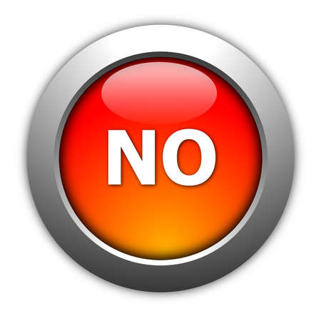 illustration of yes and no button for internet website illustration