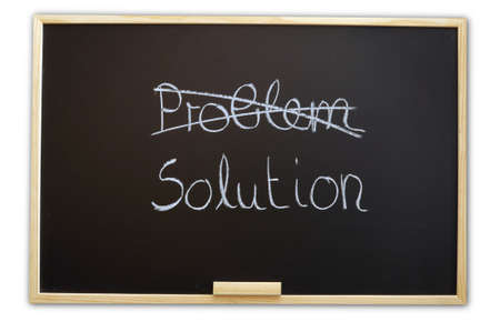 solution for a problem written on a chalk or black board Stock Photo - 5752124
