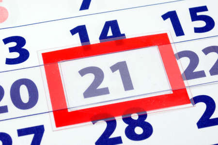 reminding: calendar date showing day week and month of the year