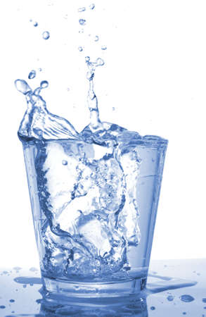 glass of water beverage showing healthy lifestyle Stock Photo - 5752166