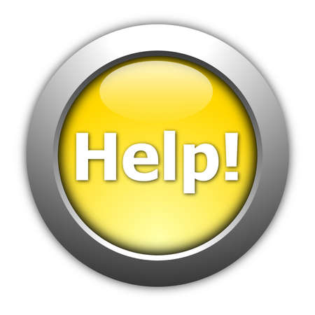 illustration of glossy help internet button isolated on white illustration