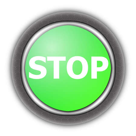 stop button isolated on a white background photo