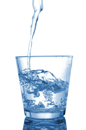 Water glass: glass of water beverage showing healthy lifestyle Stock Photo