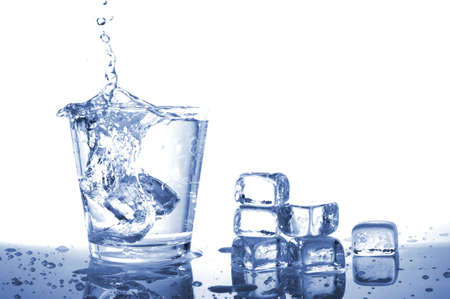 fresh water in glass with ice cubes Stock Photo - 5816092