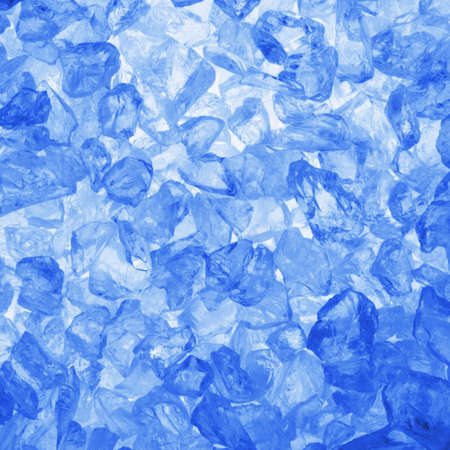 ice cubes: square ice cubes background in blue for summer drinks