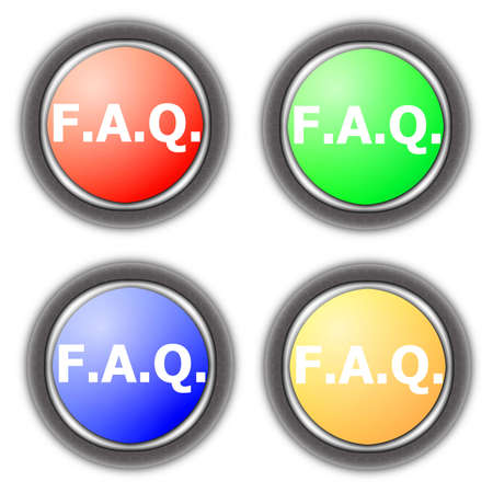 faq button collection isolated on white background photo
