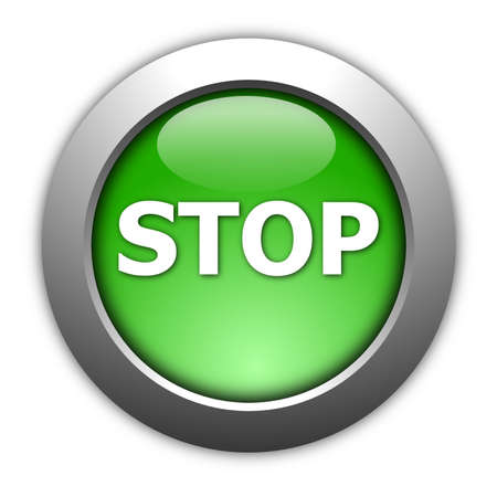illustration of a stop button on white background illustration