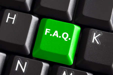 faq internet or web concept with green computer keyboard Stock Photo - 5838069