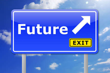 future written on a road sign illustration showing time concept Stock Illustration - 5838087