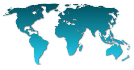 world map  showing global concept on white background Stock Photo - 5838056