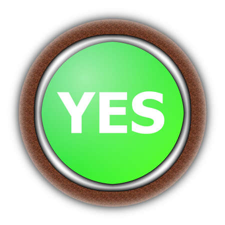 yes and no button isolated on white background Stock fotó - 5864069