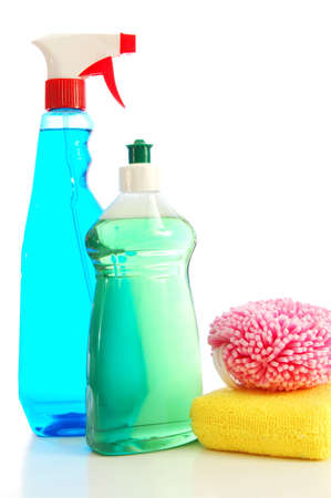 hygienic: isolated cleaning supplies for clean and hygienic household
