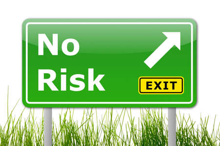 savings risk: no risk concept for your financial investment Stock Photo