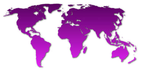 world map  showing global concept on white background Stock Photo - 5863934