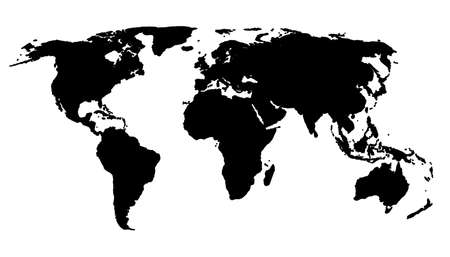 world map or globe with all continents photo