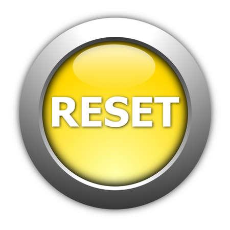 computer reset button illustration isolated on white illustration