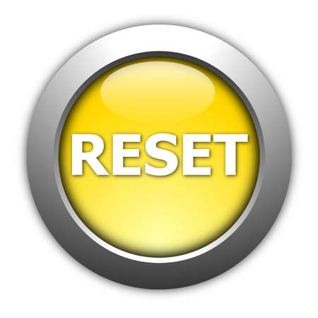 computer reset button illustration isolated on white illustration