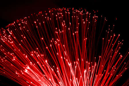 fiber optics cable from modern computer comminication technology                                     photo