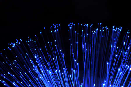 abstract information technology background with fiber optics Stock Photo - 5882014