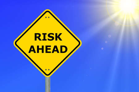 risk ahead sign showing business concept with copyspace Stock Photo - 5891563