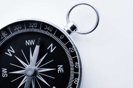 compass close up or macro as  business guide