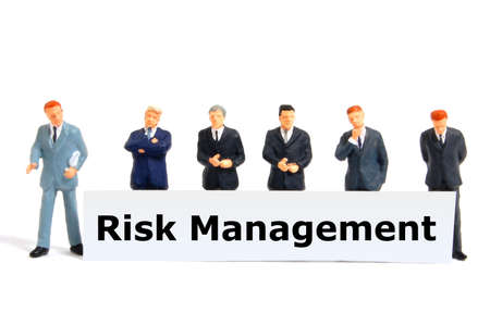 word risk management showing business investment or finance concept photo