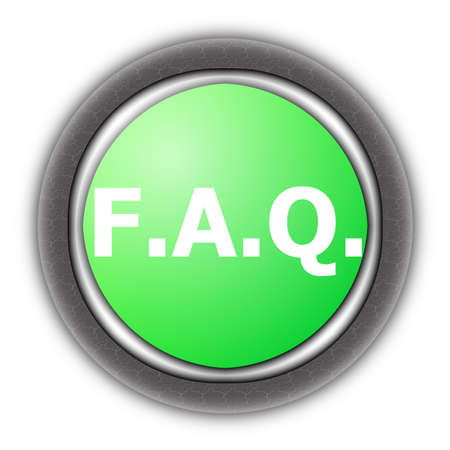 faq button for internet website isolated on white Stock Photo - 5970879