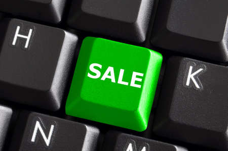 sale business or ecommerce concept with keyboard Stock Photo - 5970857