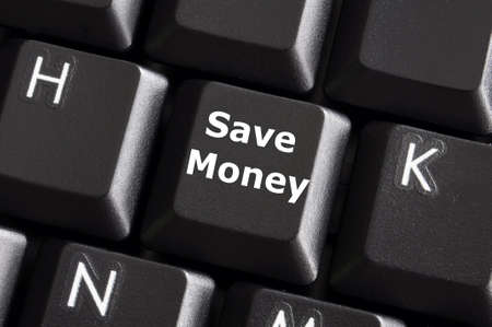 save money for investment concept with a button on computer keyboard photo