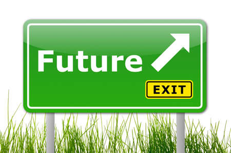 future written on a road sign illustration showing time concept Stock Illustration - 5970890