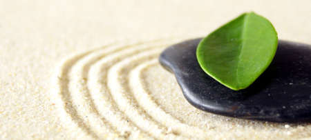 harmony concept with zen stones and leaves Stock Photo - 5970777
