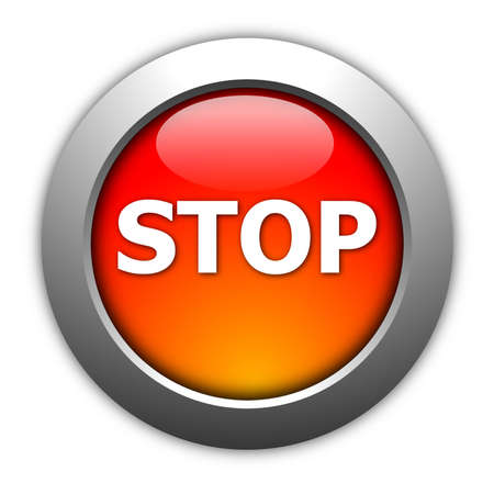 pause button: illustration of a stop button on white background Stock Photo
