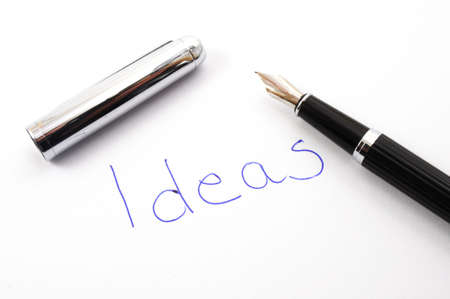 word ideas written on paper showing creativity concept Stock Photo - 5987046