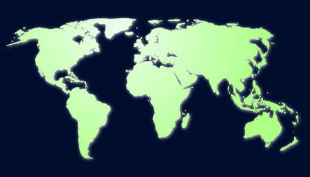 global economy or business concept with world map or globe photo