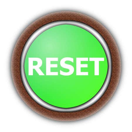 reset button illustration isolated on white background illustration