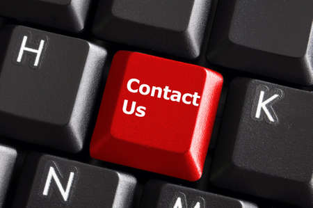 contact us or support concept with computer keyboard button Stock Photo - 6007774