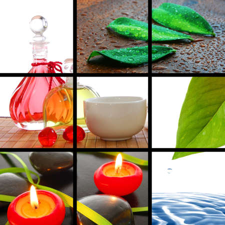 spa or wellness concept  with images in collage  photo