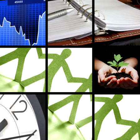 collage with success business and financial images Stock Photo - 6032354