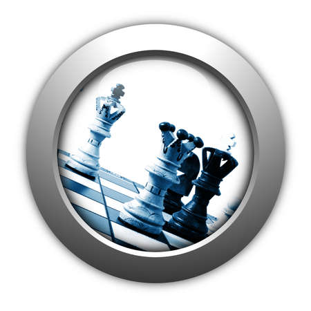 chess competition button concept showing business success photo