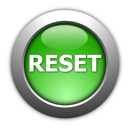 again: computer reset button illustration isolated on white Stock Photo