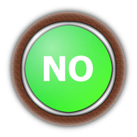 yes and no button isolated on white background Stock fotó - 6032169