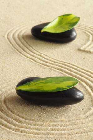 peace of mind: spa still life with zen like stones