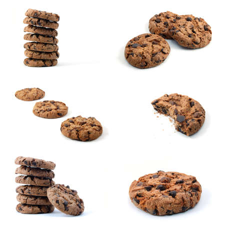 cookie or cake collection isolated on white background Stock Photo - 6080473