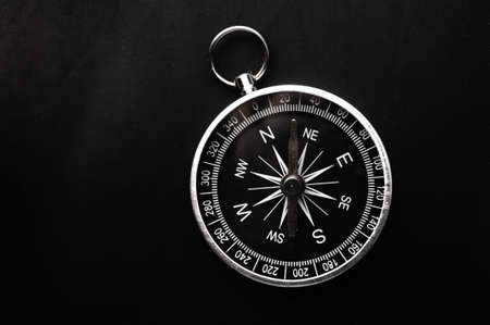 compass showing the right direction in business and finance photo