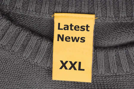 broadsheet: latest news xxl concept with label or tag